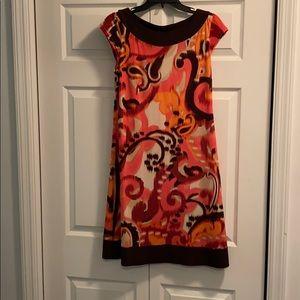 Multicolor midi dress.